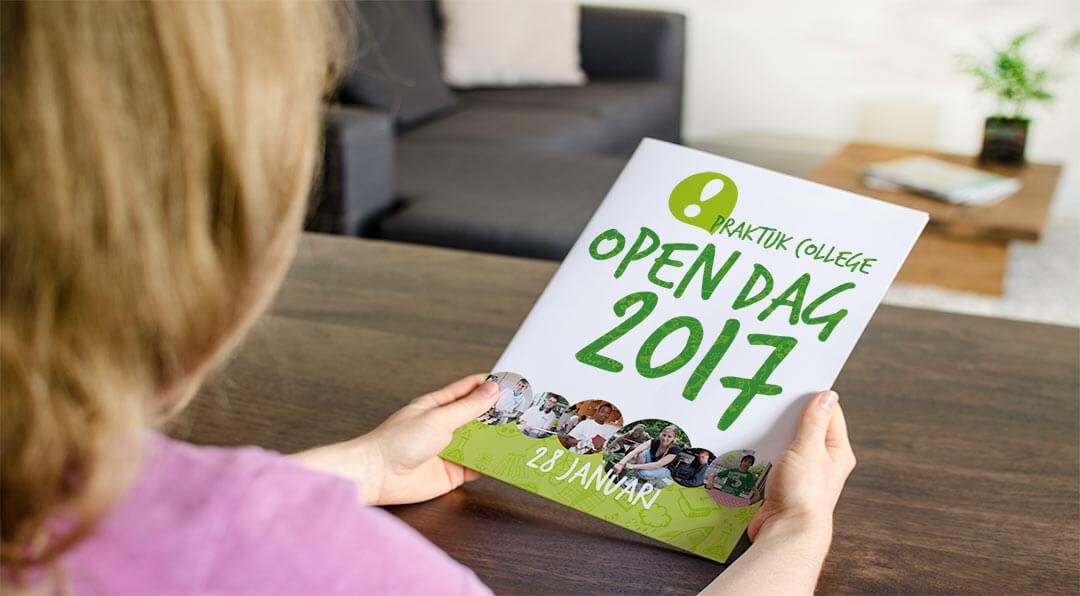 Open dag flyer communicatie scholen