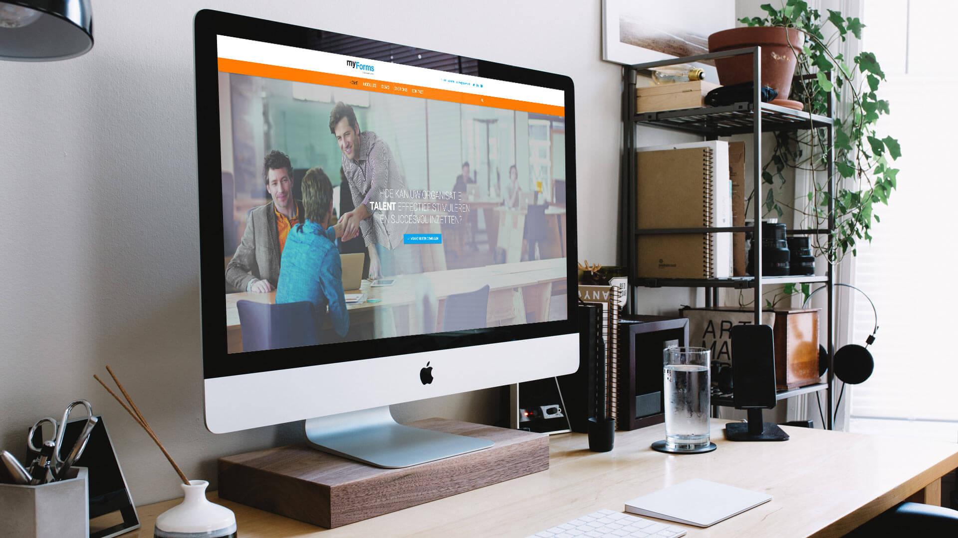 Webdesign van visuele content voor websites