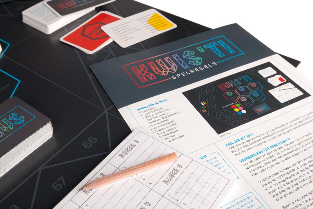 Grafisch ontwerp bordspel Kwis't