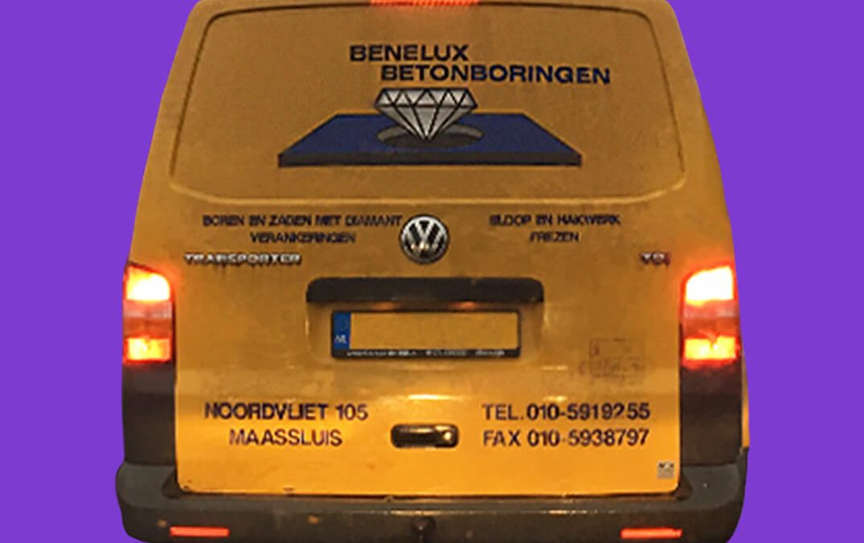 Echt wel of echt niet: Bedrijfsbus Benelux Betonboringen