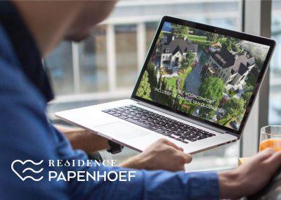 Residence Papenhoefwebdesign, logo ontwerp en luxe brochure